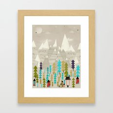 happy in the mountains Framed Art Print
