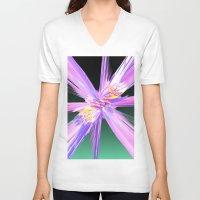 honeycomb V-neck T-shirts featuring Honeycomb by Aqua Moon Coffee