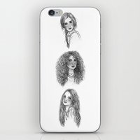 hermione iPhone & iPod Skins featuring Ginny, Hermione & Luna by Susanne