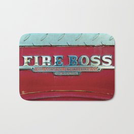 Fire Boss - Fort Worth - Fire Engine Red and Chrome Bath Mat