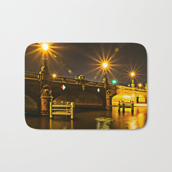 Night on the Moltke-Bridge in Berlin Bath Mat