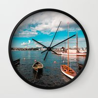 oslo Wall Clocks featuring Oslo Boats by Léon