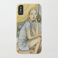 tenenbaum iPhone & iPod Cases featuring Margot Tenenbaum by Patt Kelley