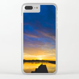 Sunset Blues Clear iPhone Case