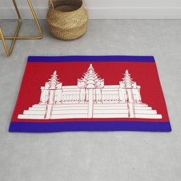 Cambodia flag emblem Rug