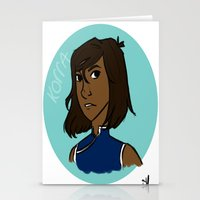legend of korra Stationery Cards featuring Korra by simone kett