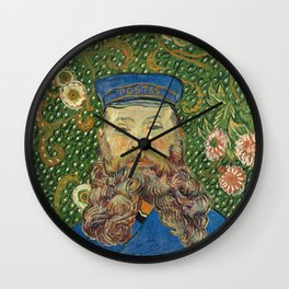 Portrait of the Postman Joseph Roulin by Vincent van Gogh Wall Clock