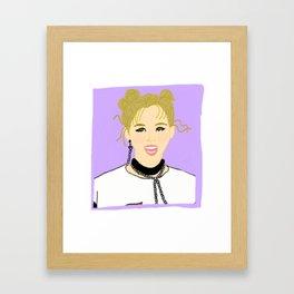 Knock Knock! Jungyeon Purple Framed Art Print