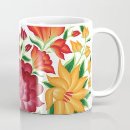 Mexican Embroidery Style Heart Design from Oaxaca, México Coffee Mug