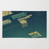 pool Area & Throw Rugs featuring Pool by Maxime Chillemi