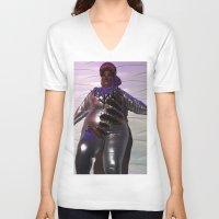 minaj V-neck T-shirts featuring Oooo Drag on by Emily Lomax