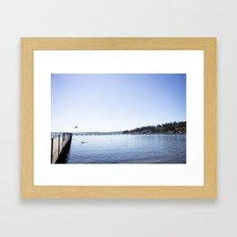 Lake Stroll Framed Art Print