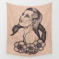 scorpio Wall Tapestries featuring Scorpio by Rachel Laughman