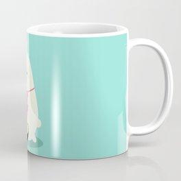 Fat bunny eating noodles Coffee Mug