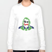 joker Long Sleeve T-shirts featuring Joker by Sourire Art