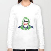 the joker Long Sleeve T-shirts featuring Joker by Sourire Art