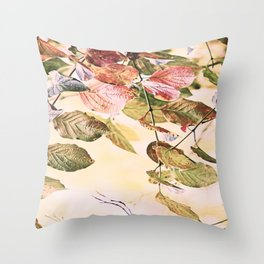Pastell Leaves  Throw Pillow