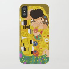 The Kiss (Lovers) by Gustav Klimt  iPhone X Slim Case