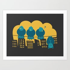 Three plus one Art Print
