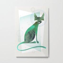 Mid-Century Feline Metal Print
