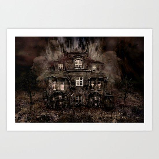 Die Geisterparty auf Halloween ! Art Print
