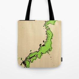 Vintage style Map of Japan Tote Bag