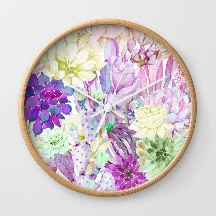 Lilac garden Wall Clock