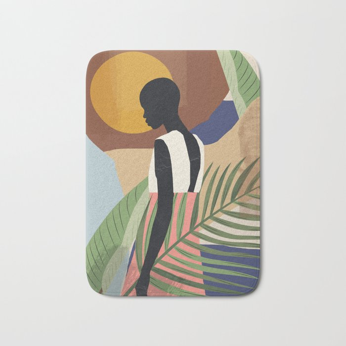 Tropical Girl 2 Bath Mat
