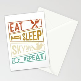 Eat Sleep Skydive Repeat Stationery Cards