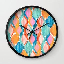 marmalade balinese ikat Wall Clock
