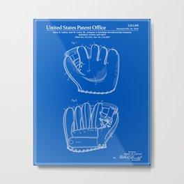 Baseball Glove Patent - Blueprint Metal Print