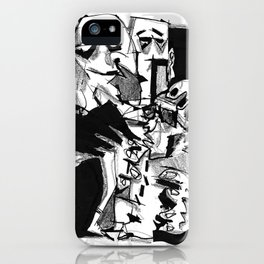 Chapter One: Never Talk with Strangers - b&w iPhone Case
