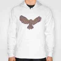 hunting Hoodies featuring Hunting Owl  by Ben Bauchau