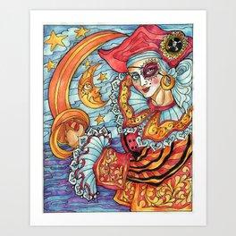 A Pirate at Carnevale Art Print