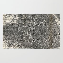 Vintage Map of Berlin Germany (1870) Rug