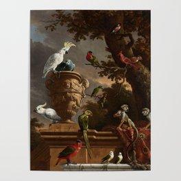 The Menagerie, Melchior d'Hondecoeter, c. 1690 Poster