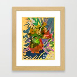 Watercolor Iris Flower with Shadows - Gold Framed Art Print