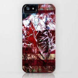 Patriotic American Barn iPhone Case