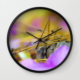 PINK AND PINE Wall Clock