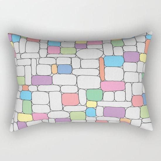 Pastel Stone Wall Rectangular Pillow