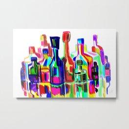 Bottles like NYC Metal Print