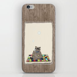 Raccoon Bubbles iPhone Skin