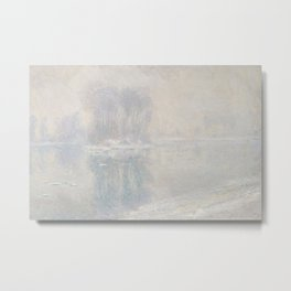 Ice Floes,1893 by Claude Monet Metal Print