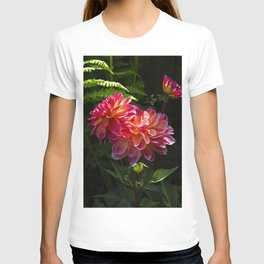 Dahlias in Dappled Sunlight T-shirt