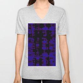 jitter, black blue, 3 Unisex V-Neck