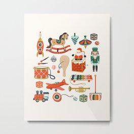 Vintage Christmas Toys Metal Print