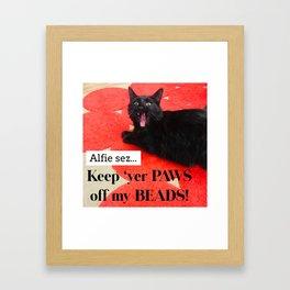 Alfie Sez Framed Art Print
