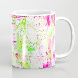 Watercolor green and pink Coffee Mug