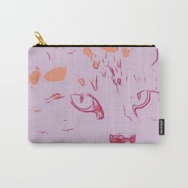 Soft Rose Abstract Cat Carry-All Pouch
