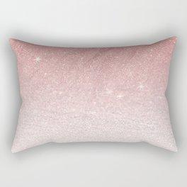 Elegant blush pink faux glitter ombre gradient pattern Rectangular Pillow